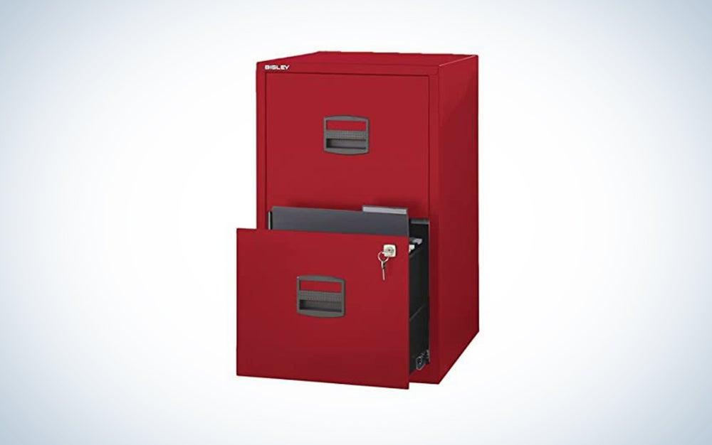 Bisley 2-Drawer Locking File Cabinet