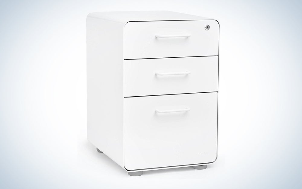 Poppin White Stow 3-Drawer File Cabinet