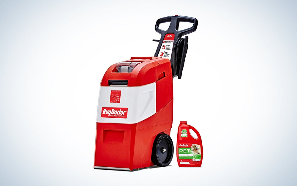 Rug Doctor Mighty Pro Commercial Carpet Cleaner is one of the best carpet cleaners on the market.