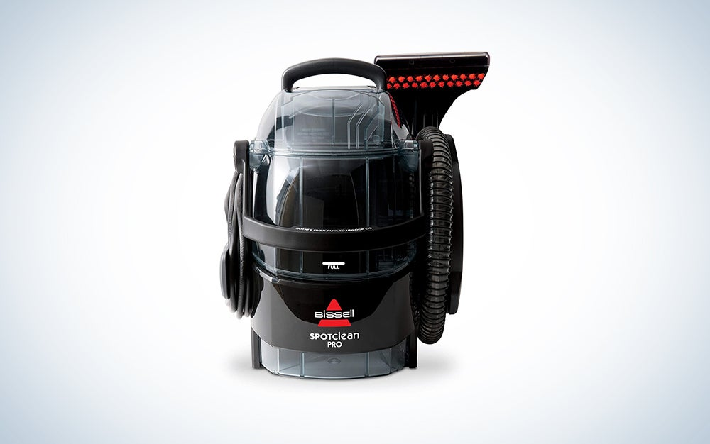 Bissell Spot Clean Professional Portable Carpet Cleaner is the best portable carpet cleaner machine