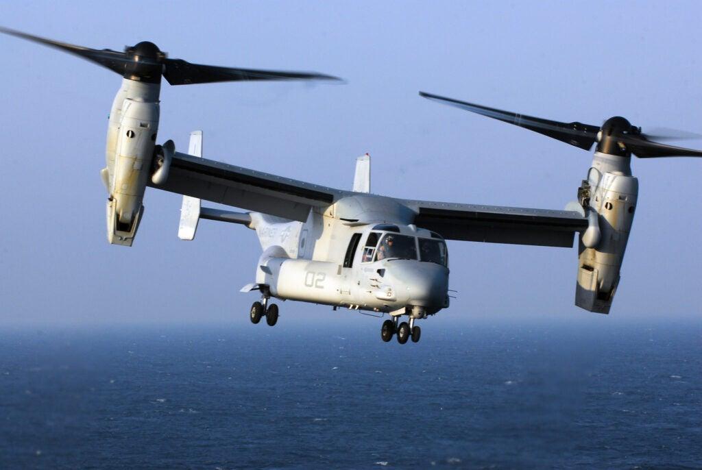 A V-22 Osprey in flight.