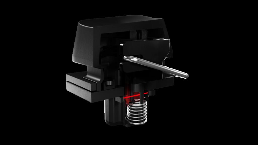 Computer keyboard switch with optical sensor