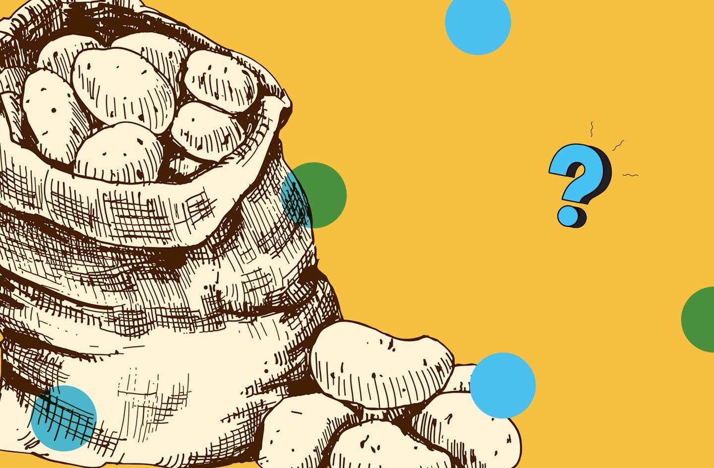 The Ask Us Anything logo with an illustrated heap of potatoes.