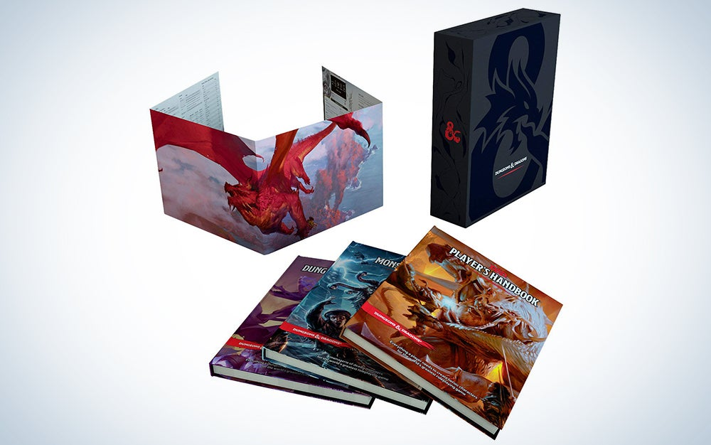 three dungeon and dragons rulebooks make great birthday gift ideas for men