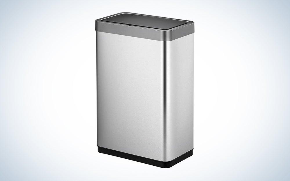 rectangular sleek motion sensor trash can