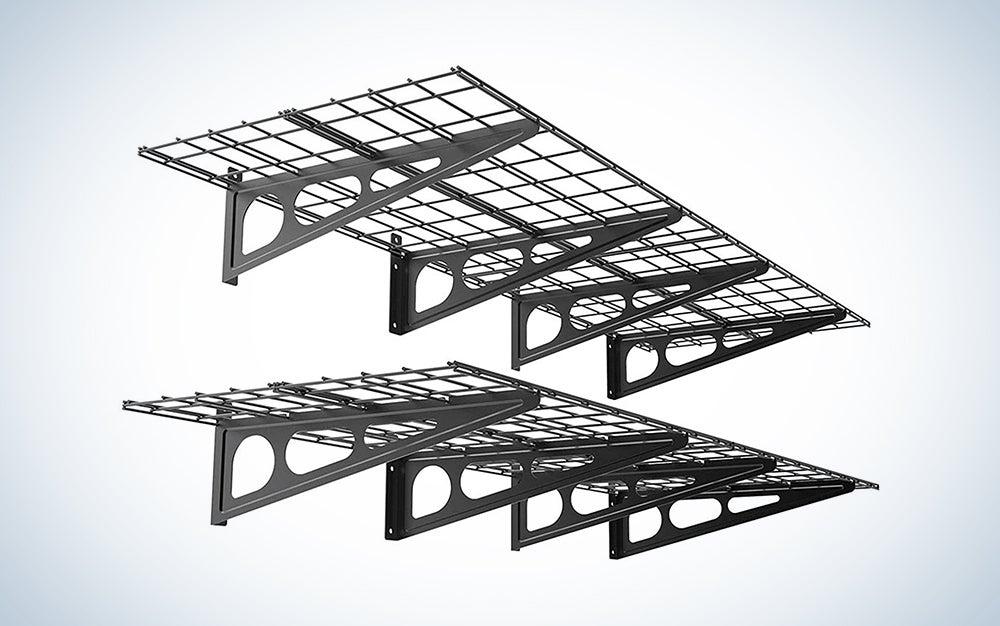wire garage shelves