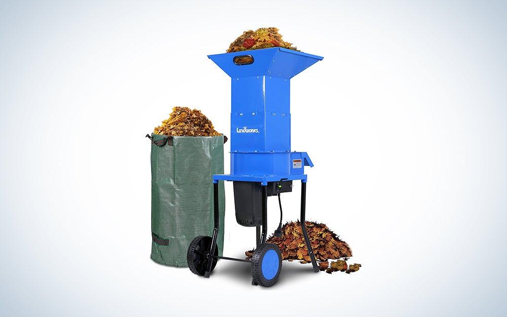 Landworks leaf shredder is also one of the best wood chipper models