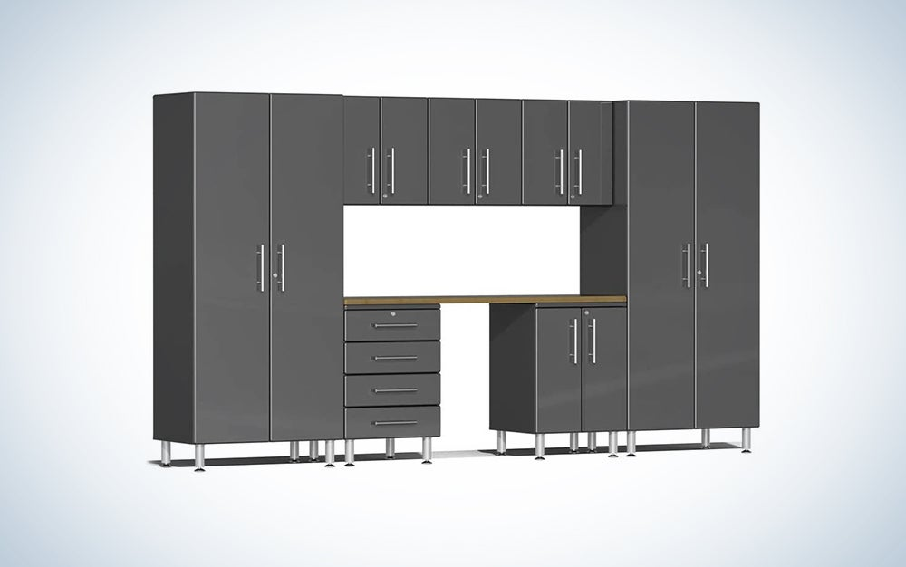 full wall garage storage system