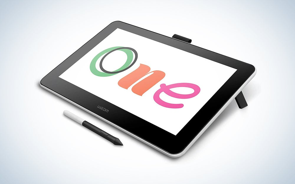 wacom tablet with the word one written on it