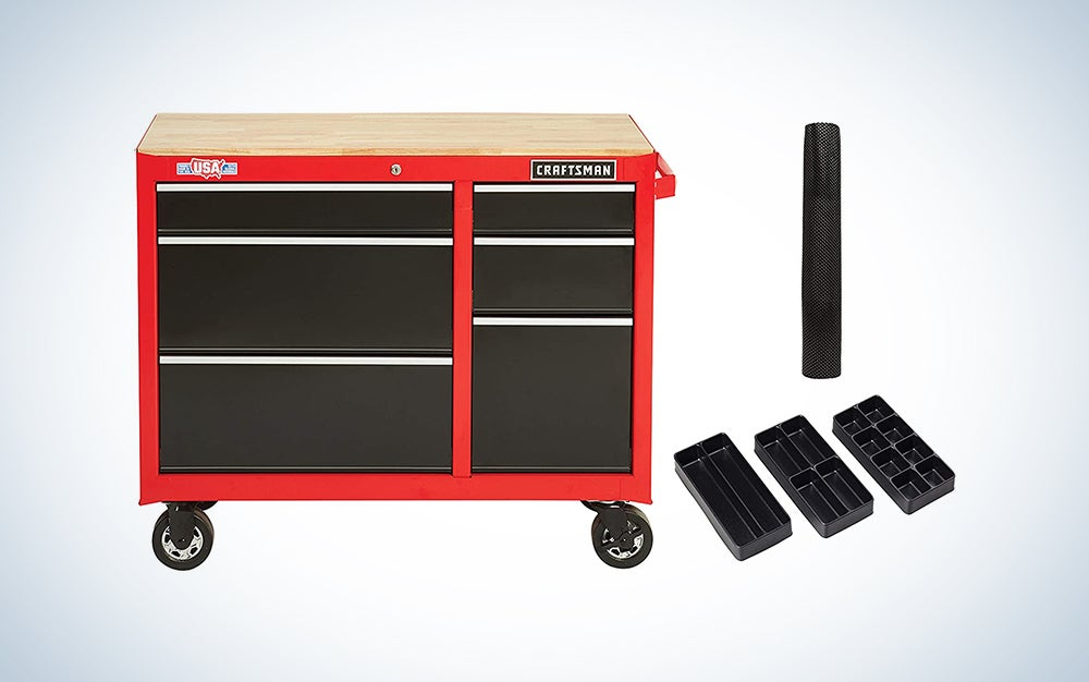 red rolling workbench is the best Craftsman workbench