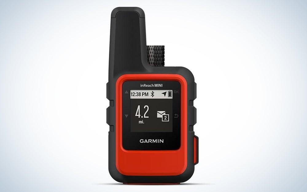 red and black satellite communicator