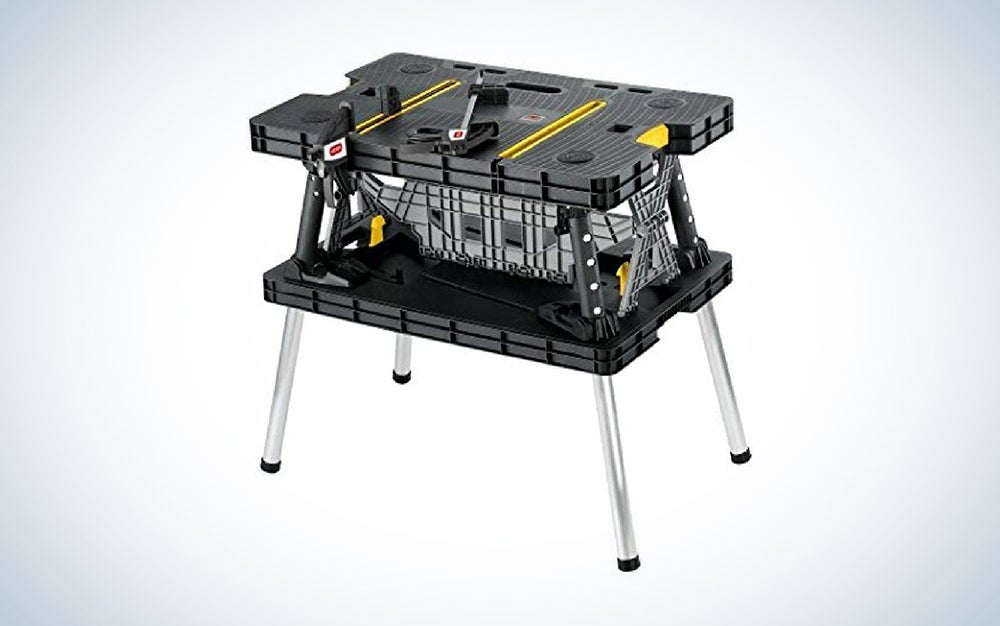 black Keter workbench with four legs is one of the best workbench models