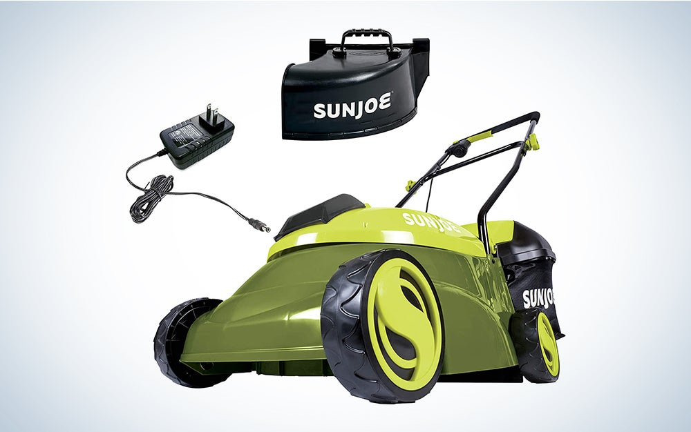 green sun joe lawn mower