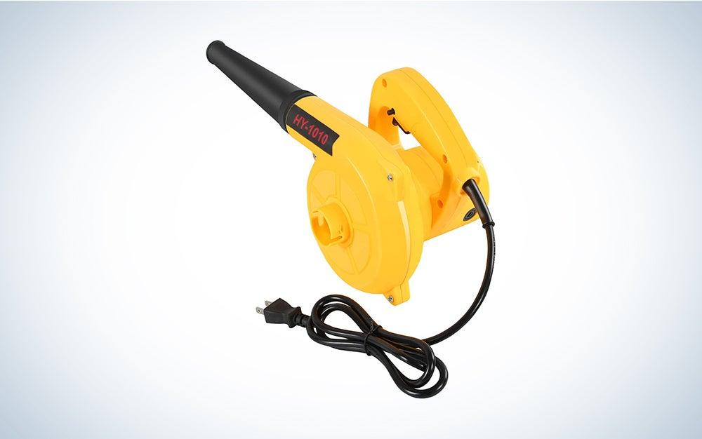 yellow leaf blower