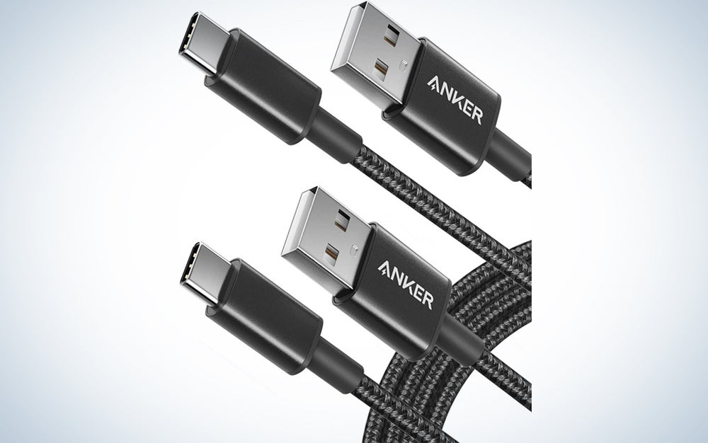 two black usb-c to usb-a cables
