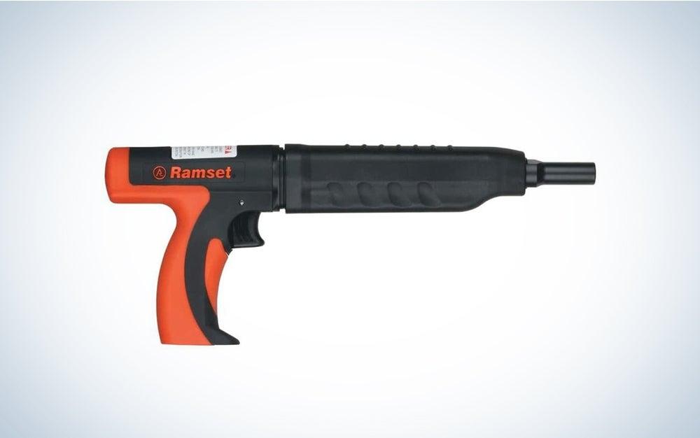 black and orange nail gun