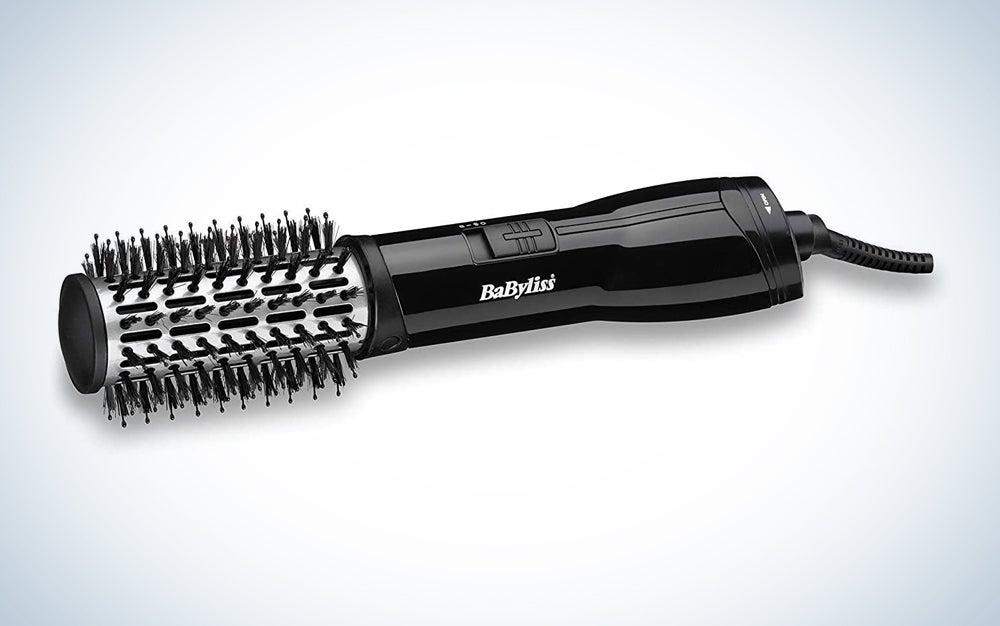 black hot air hair brush