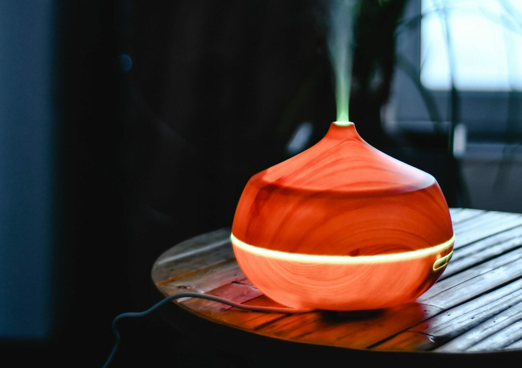 essential oil diffuser on a table