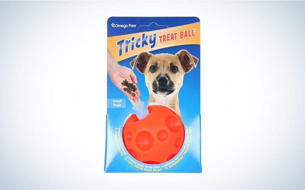 orange treat ball in packaging