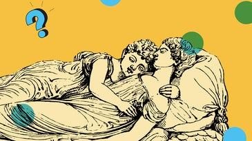 Two illustrated humans sleeping along with the Ask Us Anything logo