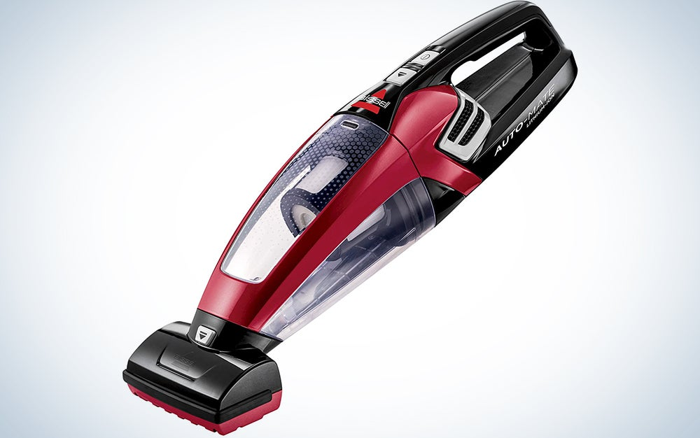 red Bissel handheld vacuum
