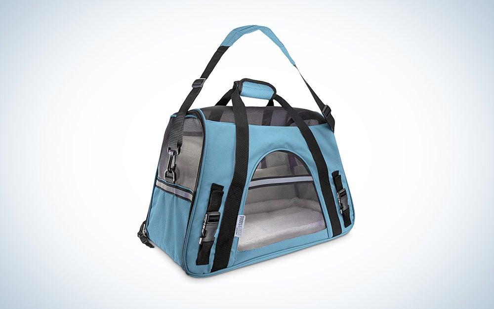 blue budget pet carrier