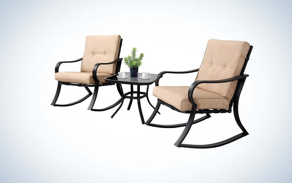 cushioned rocking chairs