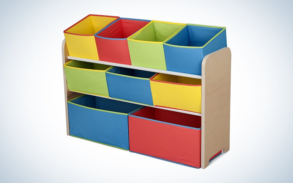 colorful toy storage bins
