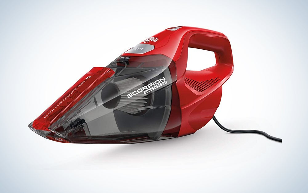 red Dirt Devil handheld vacuum