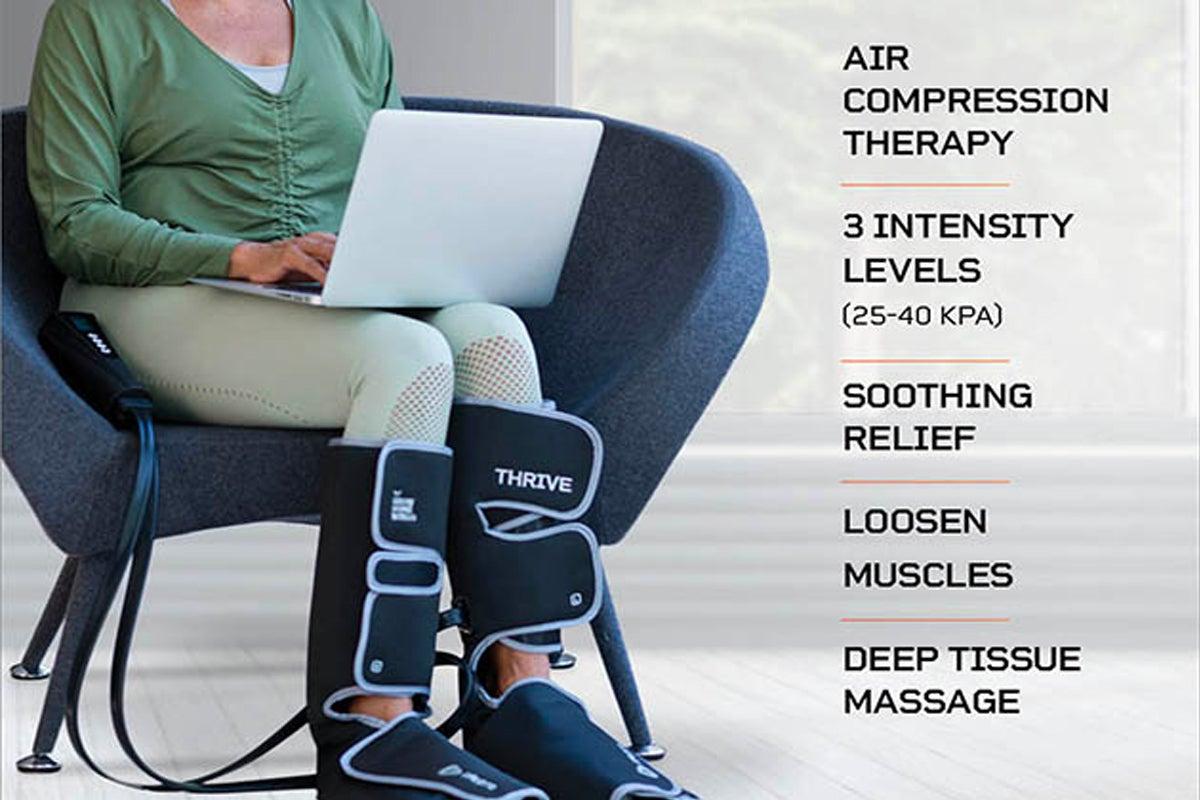 Thrive Heat Compression Leg Massager Sleeve