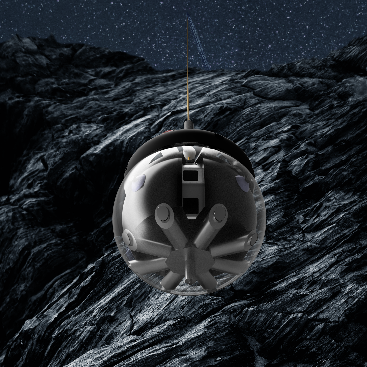 Artist's impression of the DAEDALUS robot on the moon