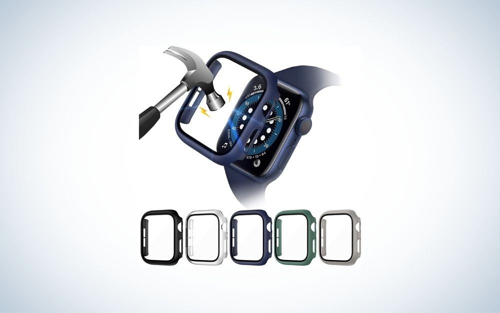 Hammer hitting an Apple Watch glass screen protector