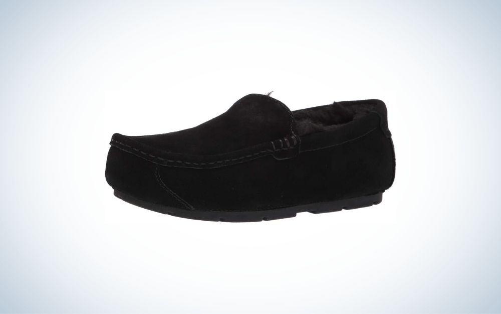 Men's black slippers from Koolaburra