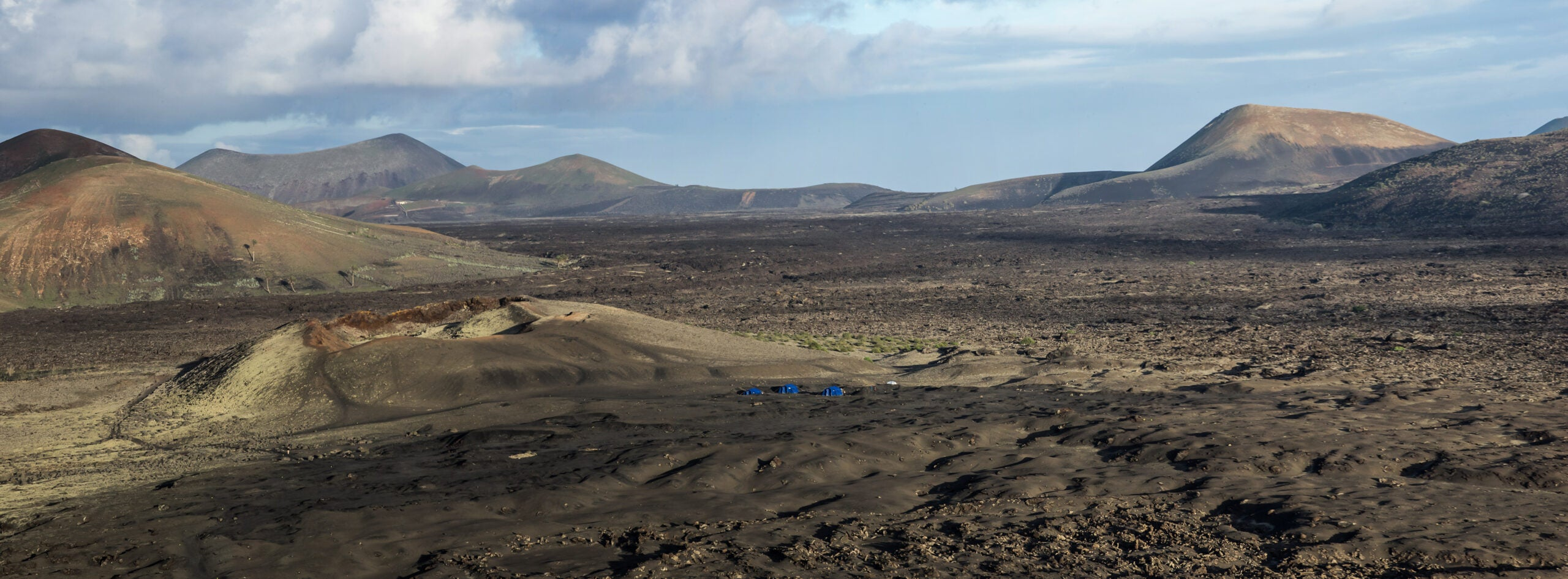barren landscape of lanzarote in the canary islands