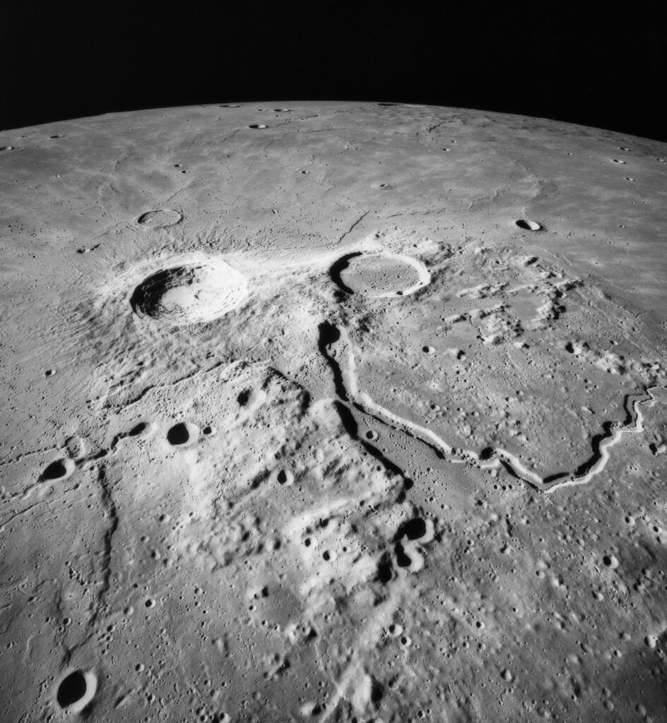 sinuous rille on the moon