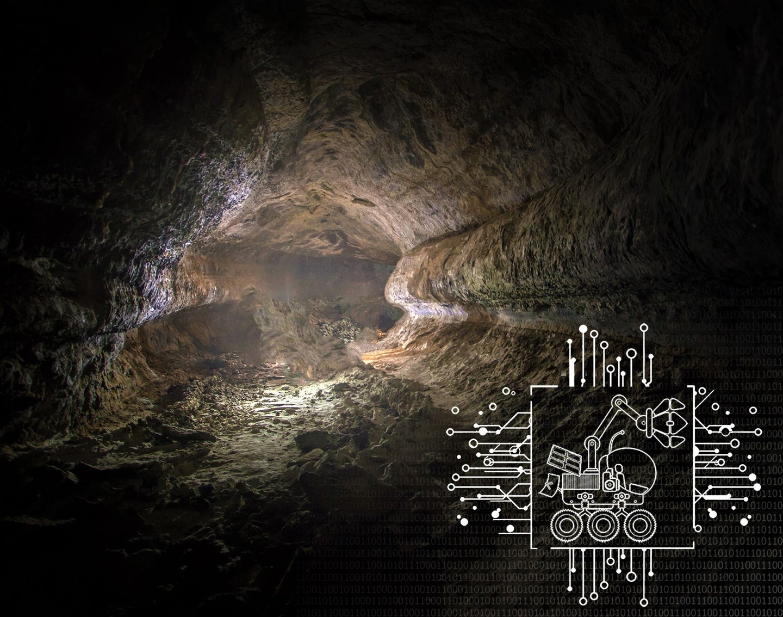 exploring moon caves