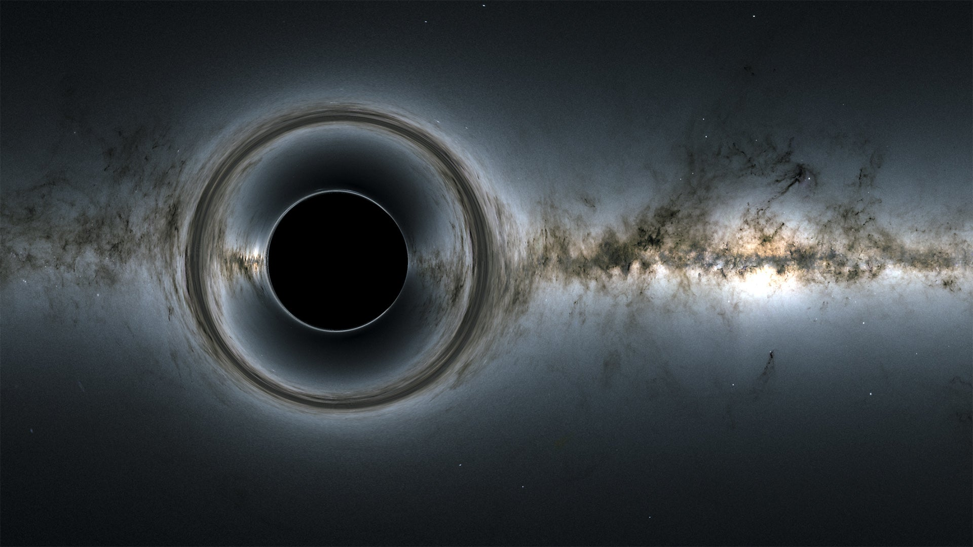 Simulation of a black hole.