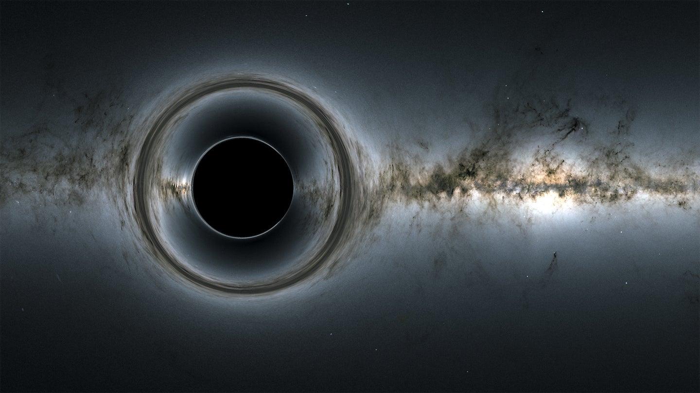 Simulation of a black hole.