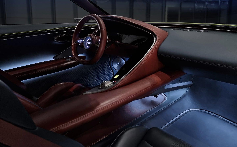 Genesis Concept X Electric Car interior shot