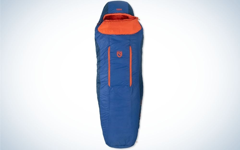 NEMO blue and orange sleeping bag for gift ideas for mom