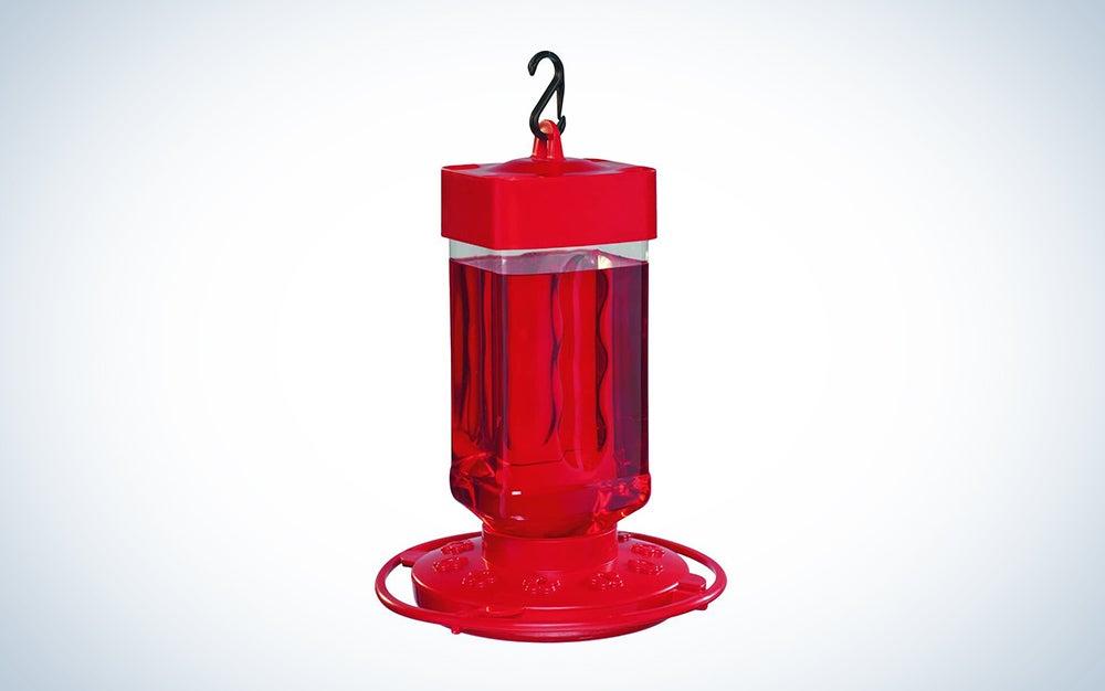 red budget bird feeder