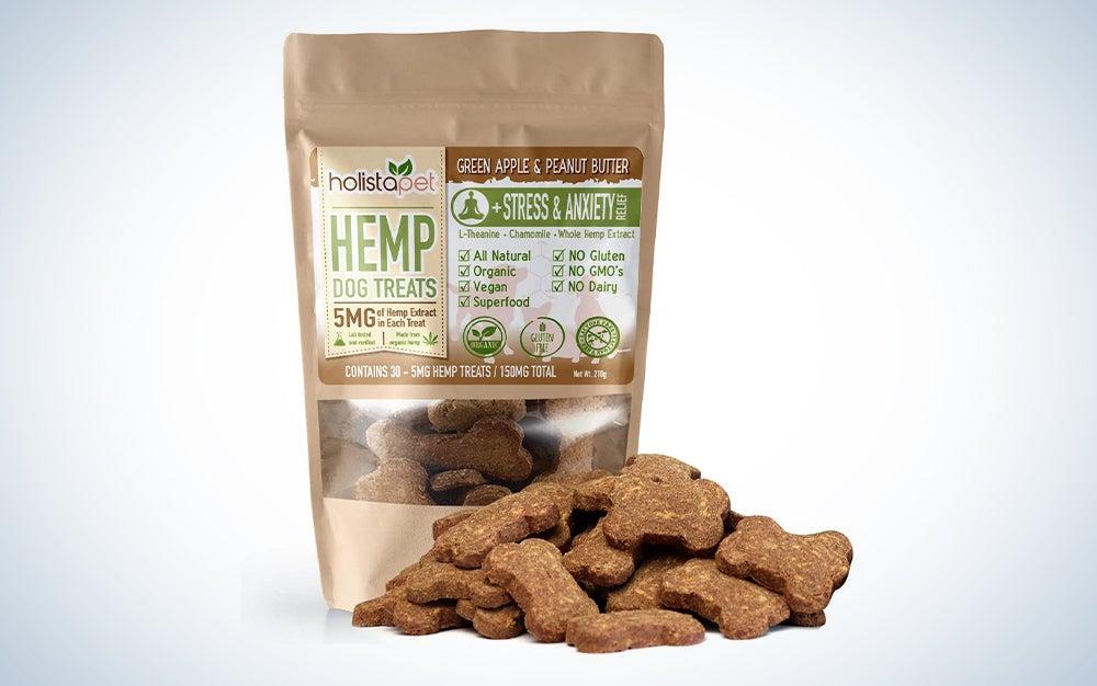 package of hemp dog treats