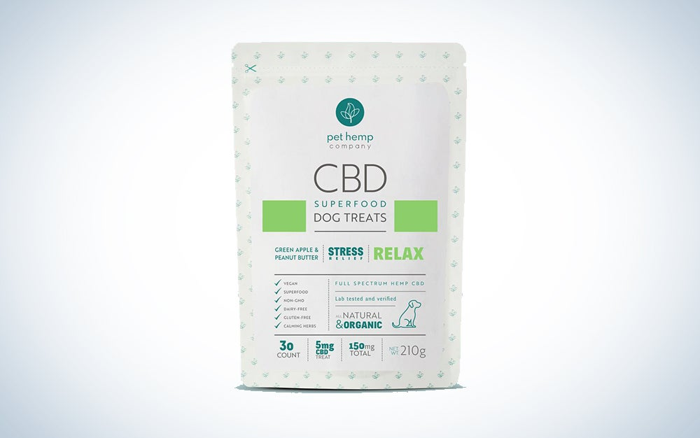 Package of cbd dog treats