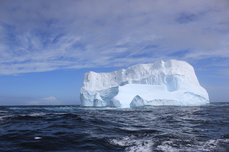 iceberg floating in southern ocean