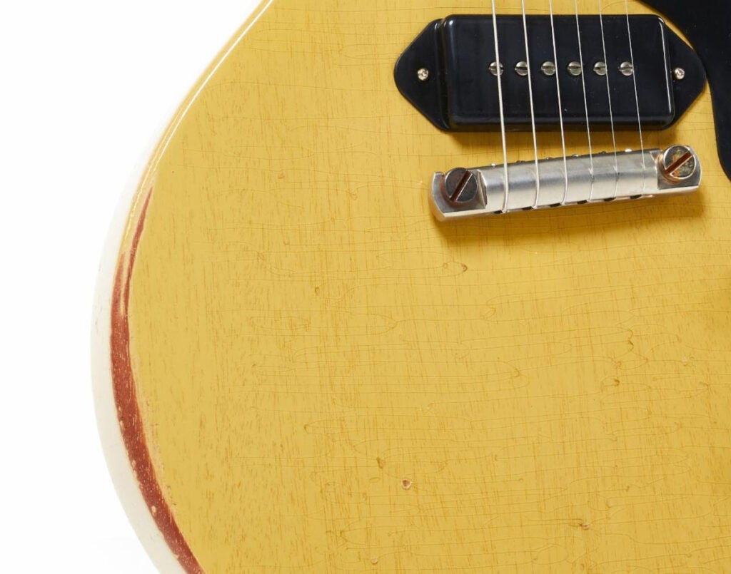 Gibson built a laboratory to give new electric guitars a vintage look and feel