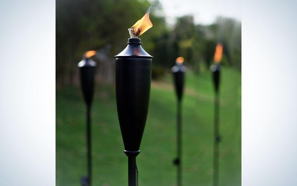 Mosquito control tiki torches