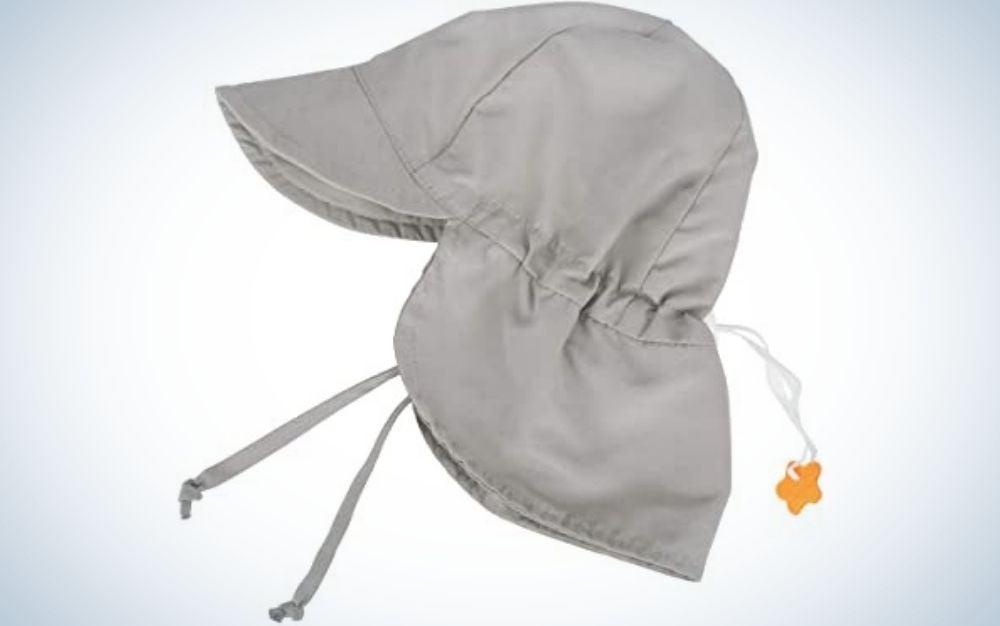 Grey baby sun hat
