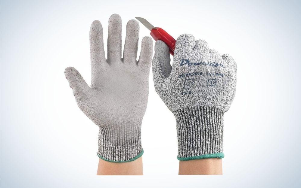 Cut resistant gardening gloves