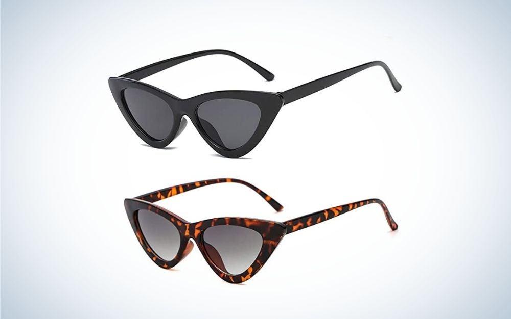 Two cat-eye women sunglasses