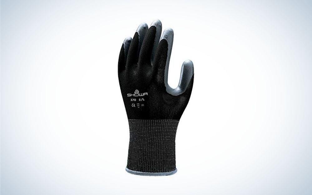 Black gardening glove from SHOWA